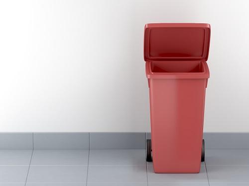 Maintien de conteneurs de déchets